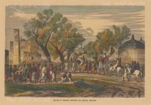 Scenes of celebration as the Sultan of Bagirmi arrives at Mas-Ena.
