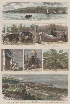 Panoramas of Santa Cruz and Porto Orotava with five views of local life.