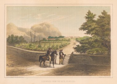 "Perry: Longwood, St Helena. 1856. An original colour antique lithograph. 9"" x 6"". [AFRp472]"