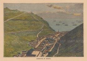 Bird's eye view of Jamestown.