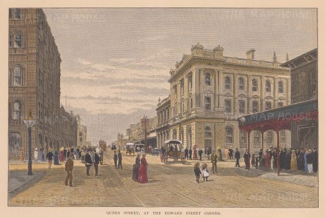View of Queen Street at the Edward Street Corner.