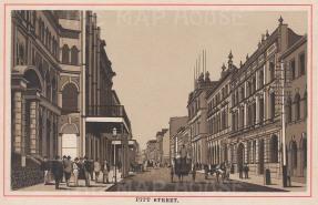 """Aonymous: Pitt Street, Sydney. c1910. An original antique photo-lithograph. 5"""" x 3"""". [AUSp682]"""