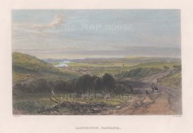 "Booth: Launceston, Tasmania. 1873. A hand coloured original antique steel engraving. 7"" x 5"". [AUSp743]"