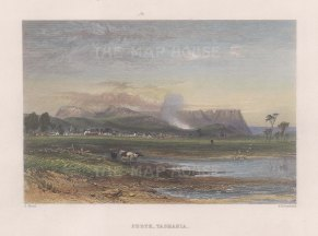 Perth: View from the environs along the shore. After Skinner Prout.