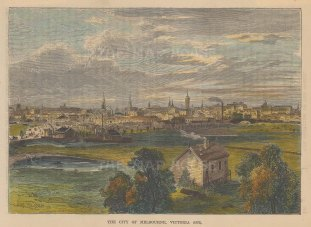 View of Melbourne twenty years earlier.