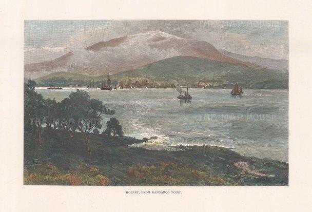 Hobart: View from Kangaroo Point.