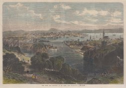 """Illustrated London News: St. John. 1866. A hand coloured original antique wood engraving. 14"""" x 10"""". [CANp484]"""
