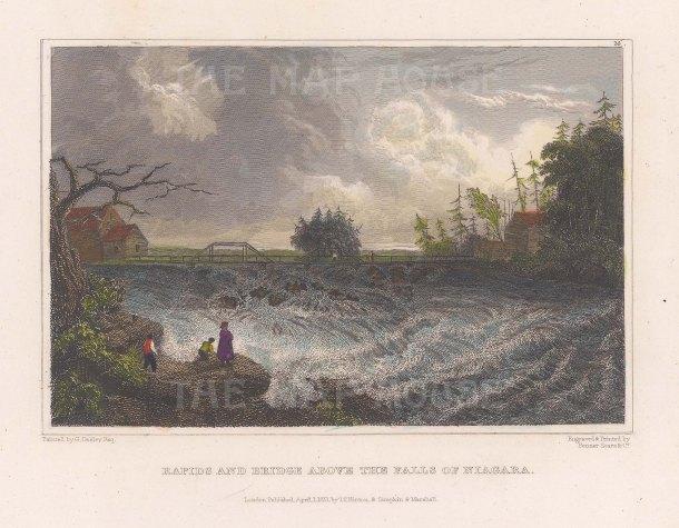"Hinton: Niagara Falls. 1831. A hand coloured original antique steel engraving. 7"" x 6"". [CANp543]"