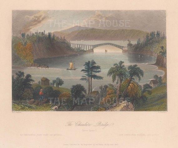 Chaudiere Bridge near Quebec.