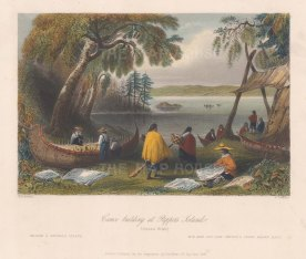 Canoe Building at Papper's Island.
