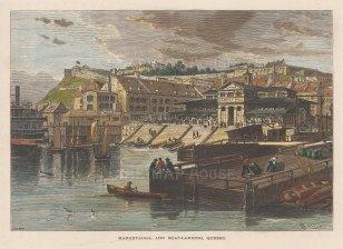 Market Hall and Boat Landing: Harbour Scene.