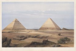 Giza: Great pyramid Cheops, second pyramid Cephren and the Sphynx.