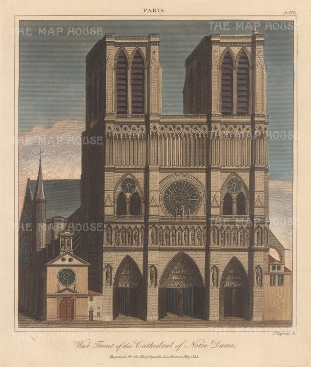 Notre Dame: West front. Engraved by John Chapman.