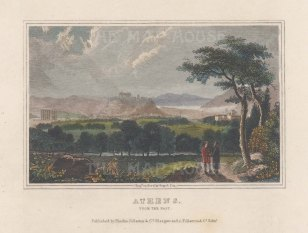 "Fullarton & Co.: Athens. c1845. A hand coloured original antique steel engraving. 6"" x 4"". [GRCp903]"