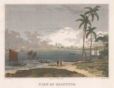 View over the port of Kolkata.