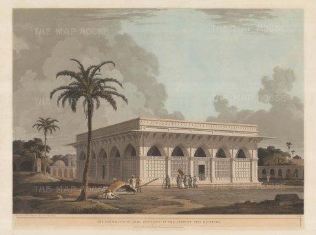 Mausoleum of Amir Khusero (Chaunsath Kambha) is actually the tomb of Mirza Aziz Koka, son of Ataga Khan.
