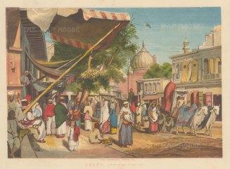 Street behind Masijid i Jahan Muma (Jama Masjid).