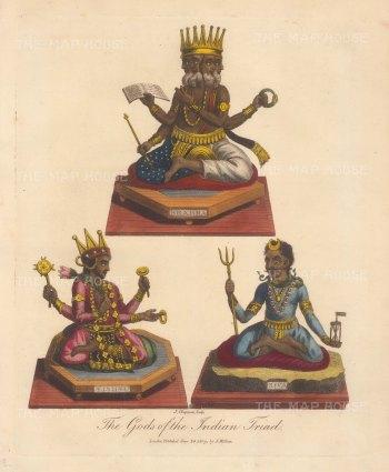 The Triad of Bhrahm, Vishnu and Siva.