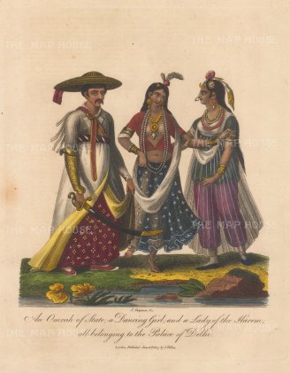 An Omrah, a dancing girl and a lady of the Harem.