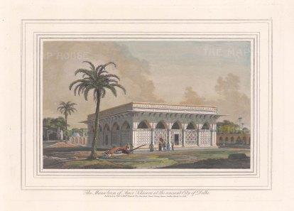"""Daniell: Delhi. 1813. A hand coloured original antique aquatint. 9"""" x 7"""". [INDp1515]"""