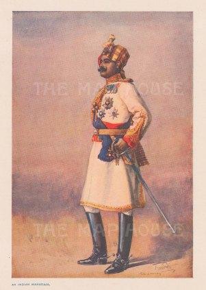Hon Colonel HH Maharaja Sir Ganja Singh Bahadur of Bikaner. After Major A.C. Lovett.