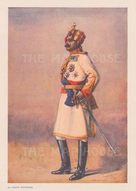 Hon Colonel HH Maharaja Sir Ganja Singh Bahadur of Bikaner. After Major A..C. Lovett.