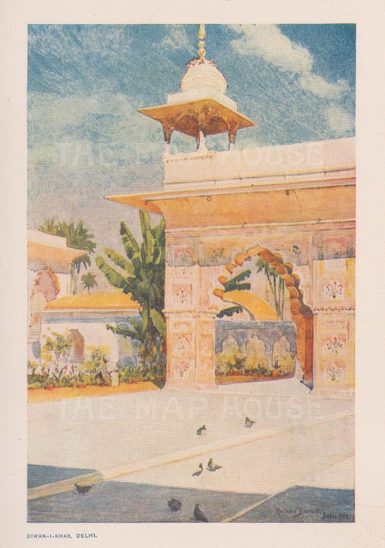 Red Fort: Exterior of Diwan-I-Khas (Private Audience hall). After Reginald Baratt.