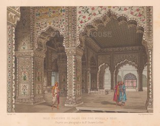 Red Fort of Delhi: View of the interior of the Diwan-I-Khas (Private Audience hall).
