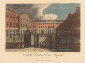 Guy's Hospital: View of the north front. Engraved by John Pass.