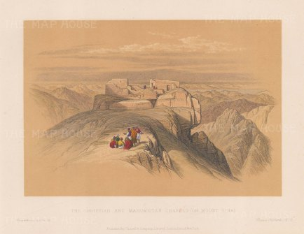 Mount Sinai: The Christian and Mahometan Chapels.