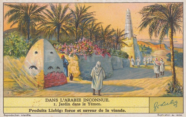 "Liebig's Extract: Yemen. c1920. An original vintage chromolithograph. 4"" x 3"". [MEASTp1194]"