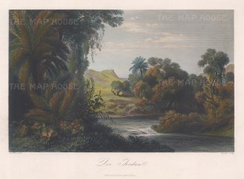 "Loffler: Jordan. c1850. A hand coloured original antique steel engraving. 11"" x 9"". [MEASTp1255]"