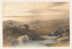 Extensive view of the City and the Valley of Jehoshapat from between Scopas and the Mount of Olives.