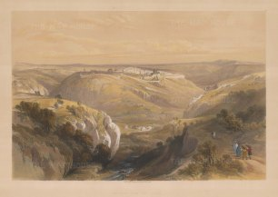 Jerusalem from the South: Valley of Jehosaphat with the City in the distance.