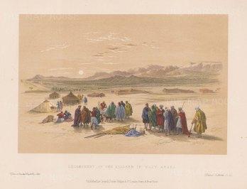 "Roberts: Wady-Araba. c1875. A hand coloured original antique lithograph. 11"" x 8"". [MEASTp1420]"