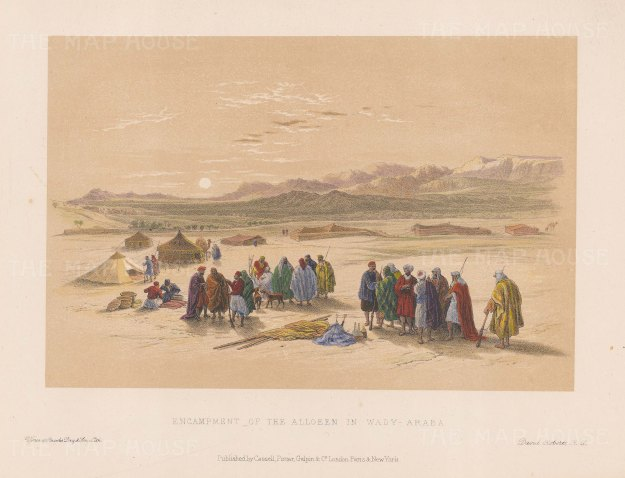 Desert scene with the Encampment of the Allooeen.