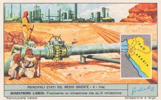 View of oil refineries and pipe lines.