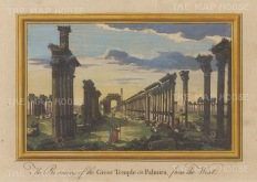 "Moll: Palmyra. 1745. A hand coloured original antique copper engraving. 10"" x 7"". [MEASTp1463]"