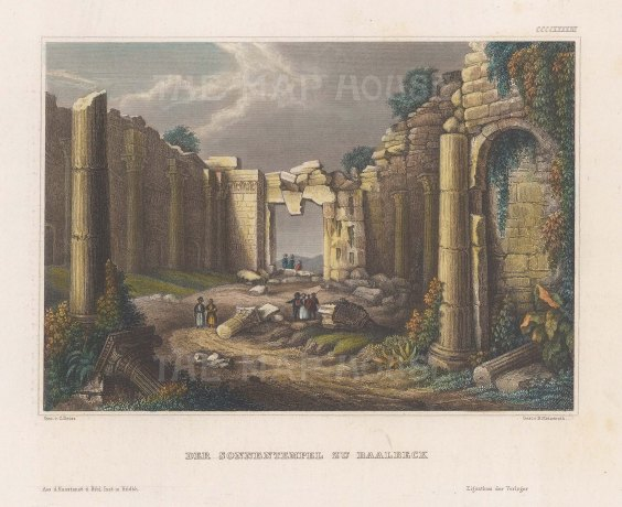 View of the ruins of the Temple of Baalbek.