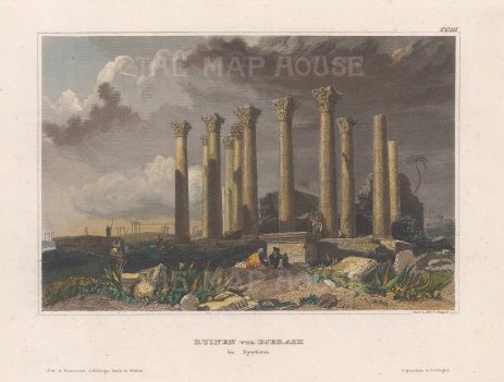 "Meyer: Jordan. 1840. A hand coloured original antique steel engraving. 6"" x 4"". [MEASTp1467]"