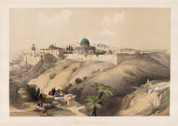 Temple Mount: The Western Wall and Dome of the Rock.