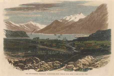 View of the fort where the Indo-European telegraph landed in 1864.
