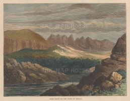 "Illustrated London News: Midian Coast. 1877. A hand coloured original antique wood engraving. 8"" x 6"". [MEASTp1567]"