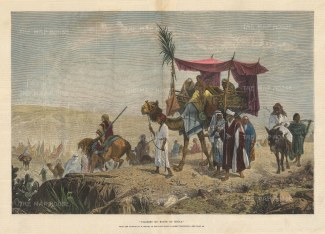 Pilgrims en route to Mecca. After the painting by Richard Beavis, RA.