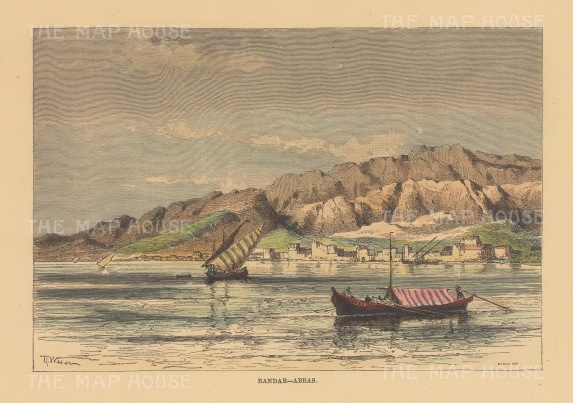View of the port on the Persian Gulf.
