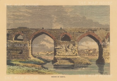 View of the old Bridge over the river at Dez.