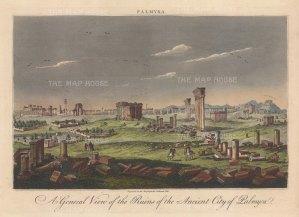 Palmyra: Panoramic view of the ruins.