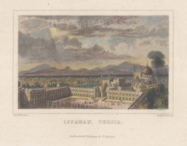 "Fullarton & Co.: Ispahan. c1845. A hand coloured original antique steel engraving. 6"" x 4"". [MEASTp1699]"