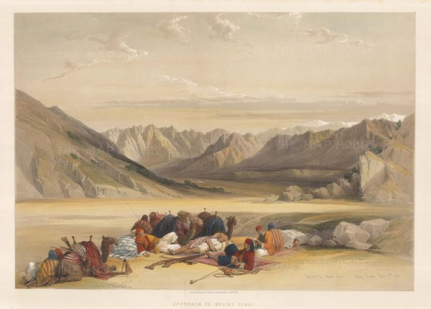 Mount Sinai: Panorama from the valley approach.