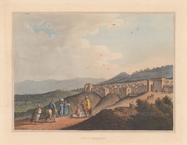 "Mayer: Bethlehem. 1810. An original colour antique aquatint. 13"" x 10"". [MEASTp91]"